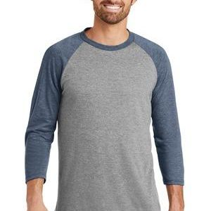 District Made Tri-Blend 3/4 Sleeve Raglan T-Shirt Thumbnail