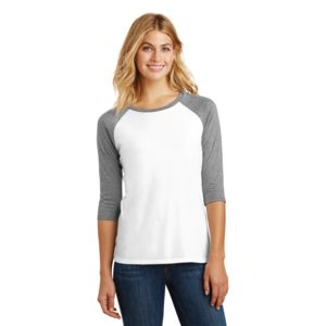 District Made Ladies Tri-Blend 3/4 Sleeve T-Shirt Thumbnail
