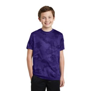 Sport Tek Youth Poly CamoHex T-Shirt Thumbnail