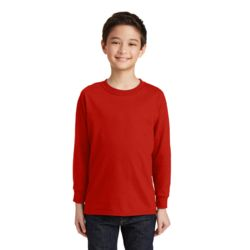 Gildan Youth 5.4oz Cotton Long Sleeve T-Shirt Thumbnail