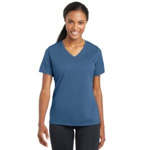 Sport Tek Ladies Racermesh V-Neck T-Shirt Thumbnail