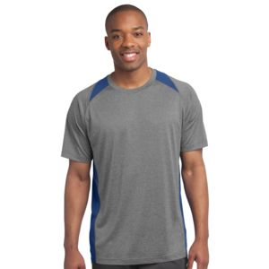 Sport Tek Unisex Heather Colorblock Poly T Shirt Thumbnail