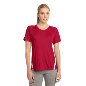 Sport Tek Ladies Colorblock Poly T-Shirt Thumbnail