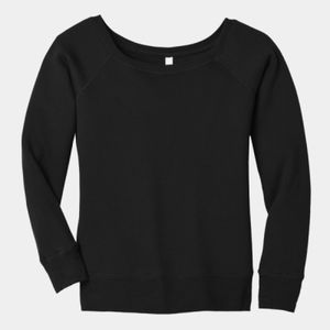Ladies Sponge Fleece Wide Neck Sweatshirt Thumbnail