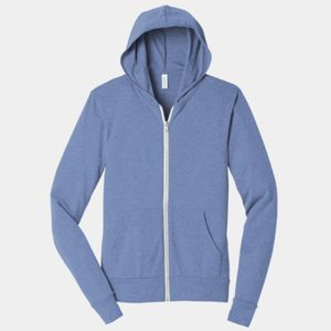 Unisex Triblend Full Zip Lightweight Hoodie Thumbnail